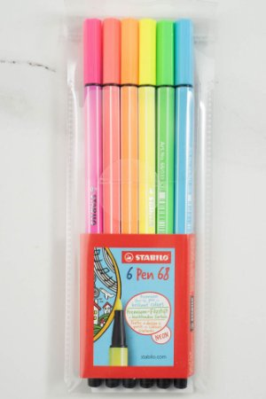 Caneta Stabilo Pen 68 Neon Estojo com 6 cores 6806-1