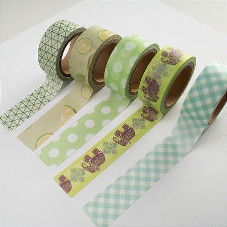 Washi Tape Green c/5 BRW