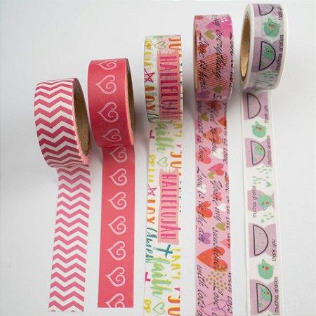 Kit Washi Tape Rose c/5 rolos