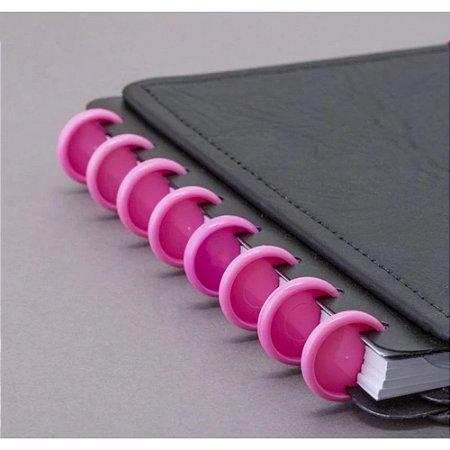Disco M + Elástico Rosa Caderno Inteligente