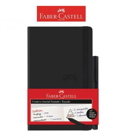 Caderno Creative Journal Pautado 84fls Preto Faber-Castell