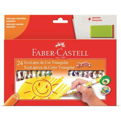 Lápis de Cor Jumbo Triangular 24 Faber-Castell