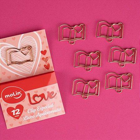 Clips Especial Livro Apaixonado Molin caixa com 12 unidades