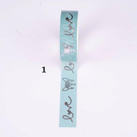 Washi Tape Decorada 15mmx5m Molin Avulsa