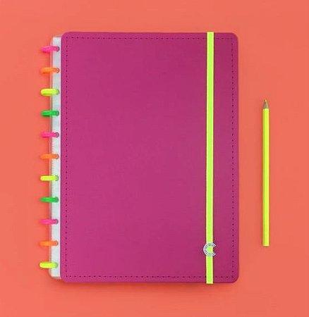 Caderno Inteligente Grande Neon Vibes 80 Folhas