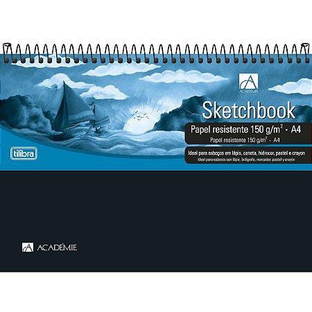 Caderno Sketchbook Espiral Capa Plástica 150g 50Fl A4 Tilibra