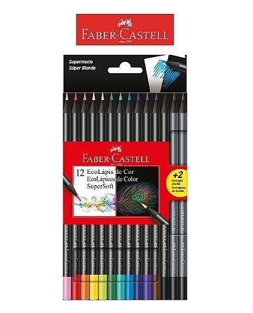 Lápis de Cor Faber-Castell SuperSoft 12 Cores
