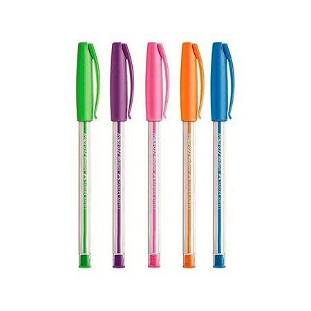 Kit Caneta Esferográfica Trilux Colors Faber-Castell 5 cores