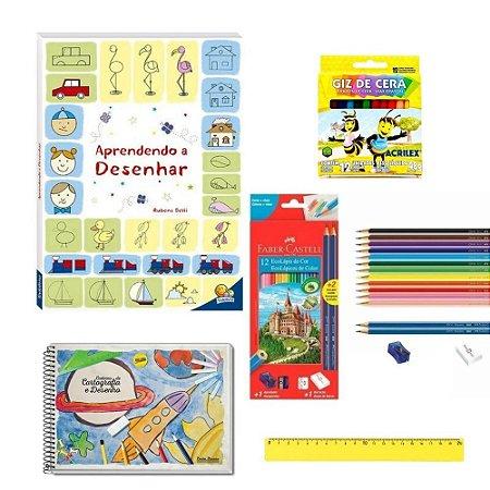 Kit aprendendo a desenhar kids 9pcs