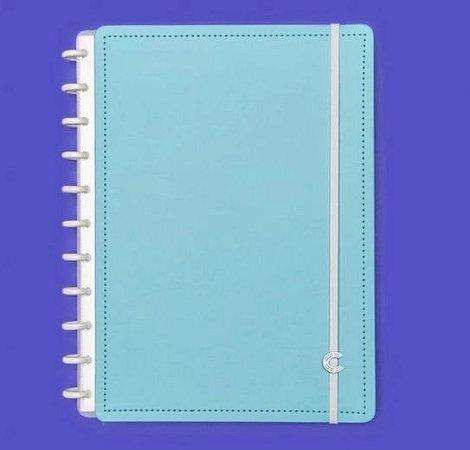 Caderno Inteligente Grande Azul Celeste 80 Folhas