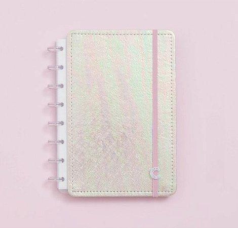 Caderno Inteligente A5 Rosa Holográfico 80 Folhas
