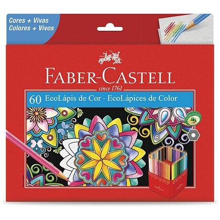 Lápis de Cor Faber-Castell 60 Cores