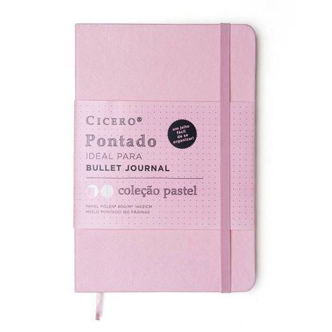 Caderneta Cicero Clássica Pontada 14x21 Rosa Pastel