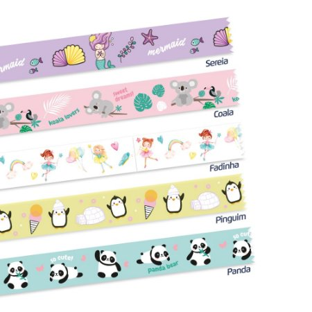 Washi Tape Decorada Fantasy c/5un