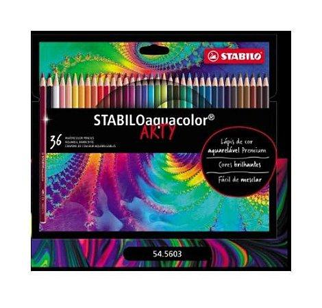 Lápis de Cor Aquarelável Stabilo Aquacolor Arty 36 cores