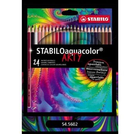 Lápis de Cor Aquarelável Stabilo Aquacolor Arty 24 cores