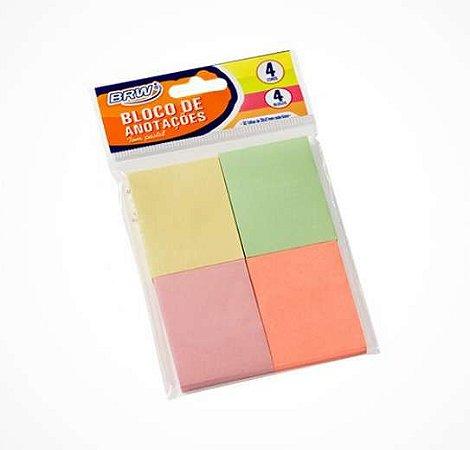 Bloco de Anotações Pastel 38x51mm 200 Folhas BRW