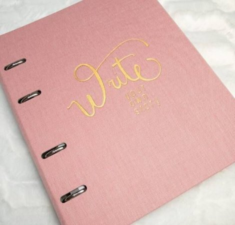 Caderno Argolado Fichário Cotton Rosa 9004-3 Ótima Gráfica