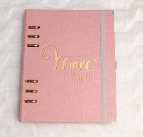 Planner A5 Cotton Rosa Caderno Organizador 8992-4 Ótima Gráfica