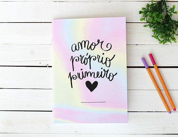 Caderno Flex Maxi Pautado Amor Próprio Primeiro