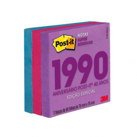 Bloco Post-it Coleção Anos 1990 76x76 270 folhas