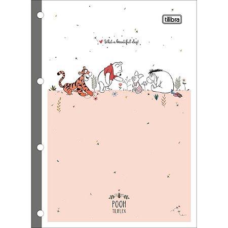 Monobloco Pooh Universitário Pautado 80 folhas Tilibra