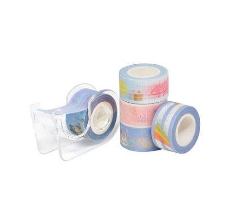 Kit Washi Tape Mini com dispenser c/5rl BRW