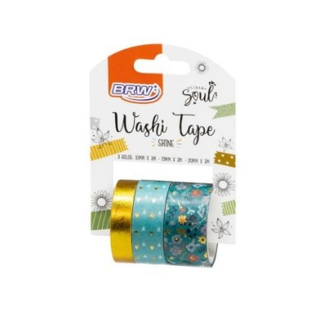 Washi Tape Shine c/3 rolos BRW
