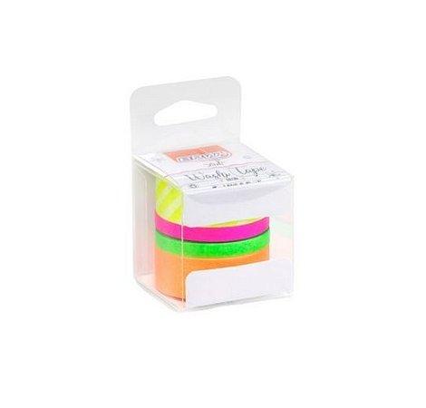 Kit Washi Tape Neon c/4rl BRW