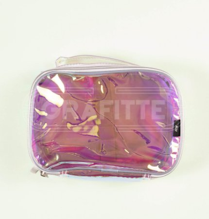 Estojo Box Transparente Holográfico