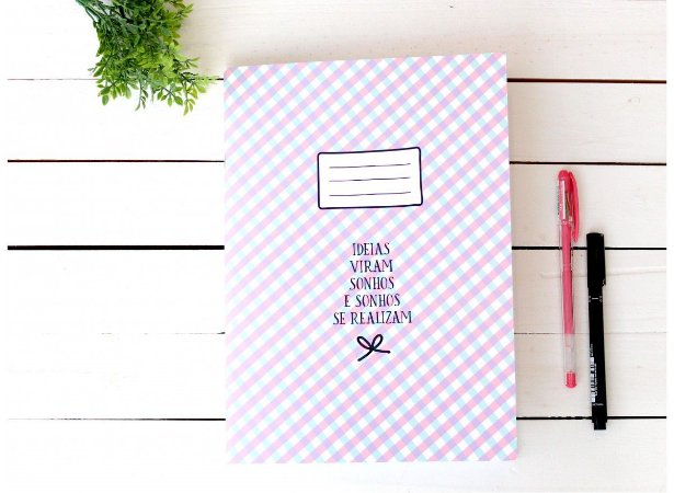 Caderno Flex Maxi Pontilhado Ideias 40 folhas