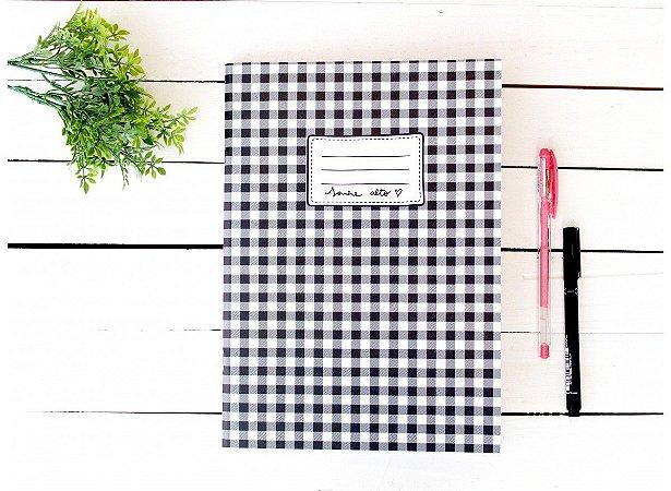 Caderno Flex Maxi Pautado Xadrez 40 folhas