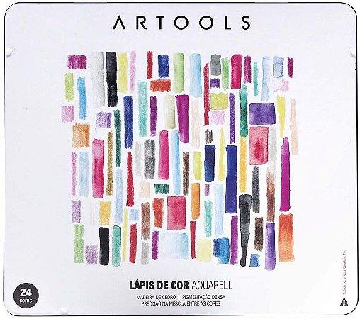 Estojo Lápis de Cor Aquarell Artools 24 cores