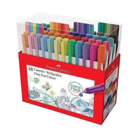 Caneta Fine Pen 0.4mm 48 cores Faber-Castell