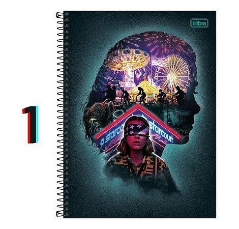 Caderno Universitário 1M Stranger Things 80 Folhas Tilibra
