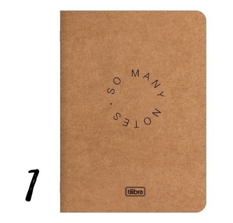 Caderno Grampeado Flexível Kraftwork 32 Folhas Tilibra