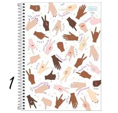 Caderno Espiral Pequeno 1/4 Oh My God! 80 Folhas