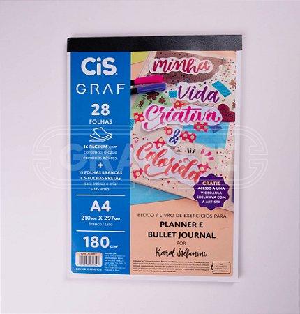 Bloco Livro de Exercícios para Planner e Bullet Journal Cis Graf