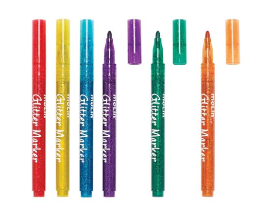 Marcador Glitter 6 cores Molin 5015