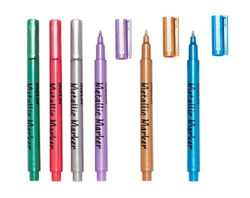 Marcador Metálico 6 cores Molin