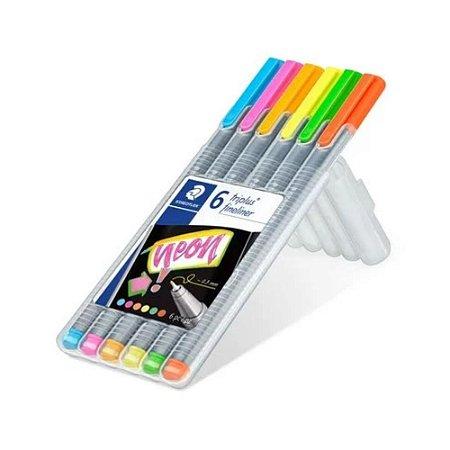 Estojo Caneta Fineliner My Neon Colours Staedtler