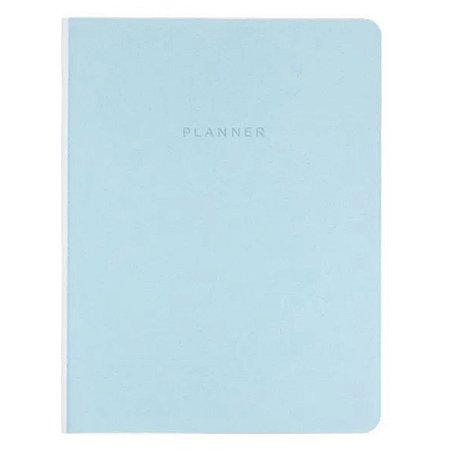 Planner Revista Mensal Azul Pastel Cicero