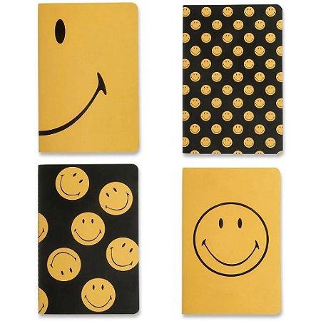 Kit Cadernos Notas Mix Cicero Smiley 14x21 4un