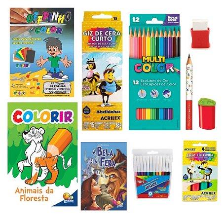Kit de colorir para crianças 10 peças