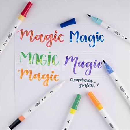 Marcador Dual Magic Brush Pen 6 cores BRW