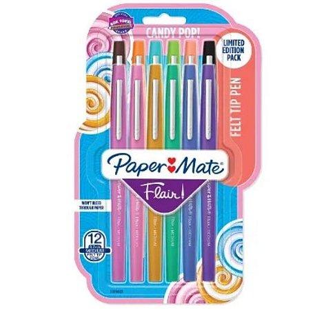 Estojo Caneta Flair 0.7 Candy Pop Paper Mate c/12