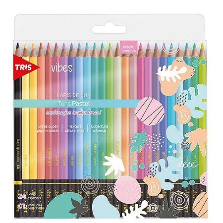 Lápis de Cor Vibes Tons Pastel TRIS