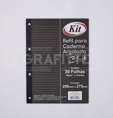 Monobloco Universitário Preto KIt 75g 30 folhas