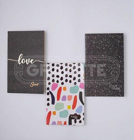 Kit Cadernetas Anotações 32 folhas c/3 Kit