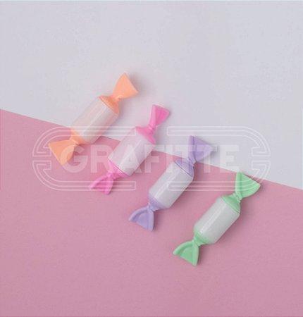 Estojo Marca Texto Mini Candy c/4 Kit